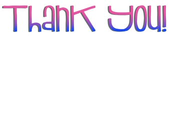 ombre thank you notes
