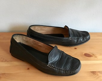 Salvatore Ferragamo vintage black women's leather loafers size 6B - open to offers!