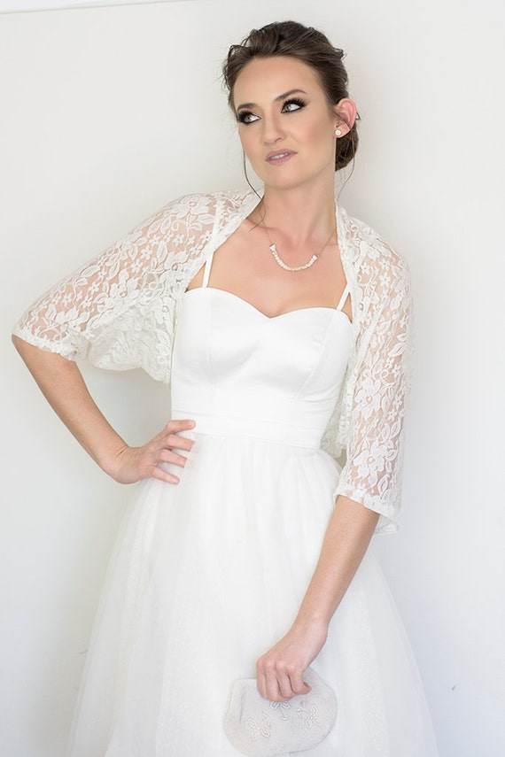 Bridal cover up white lace cover up bridal shawl wedding