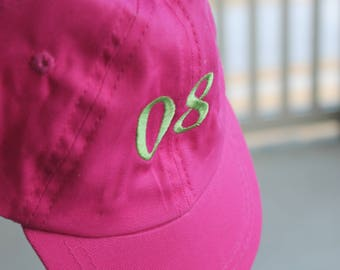 Newborn Customized Monogram Personalized Embroidered Infant/Toddler/Youth/Children/Kids Baseball Sports Sun Cap Hat Visor Choose Your Color