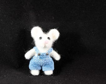 little boy mouse needle felted