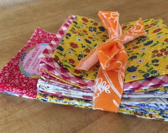 Bulk Cloth Napkins, Set of 20, Soft Cotton Fabrics, by CHOW with ME - Free Shipping