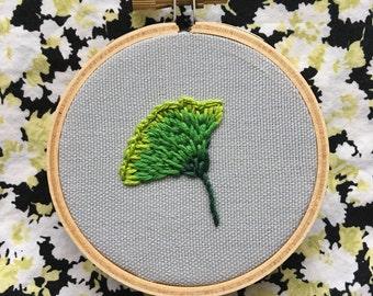 """Gingko Leaf 3"""" Embroidery"""