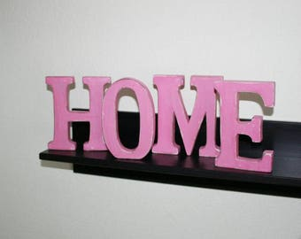 """Shabby chic letters, """"home"""", BlackBerry, wood, wood letters"""