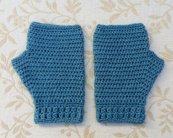 Crochet hand warmers, women's fingerless gloves, bamboo silk wool, wrist warmers, winter accessories, outdoor clothing