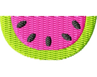Watermelon 2 Machine Embroidery Mini Design
