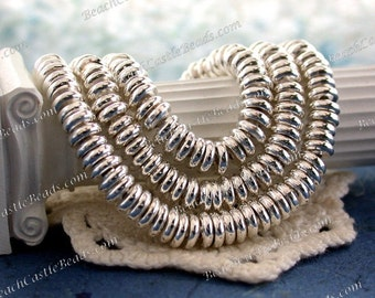 6mm Bright Silver Plated Spacers, Metal Spacers, Silver Spacers, Spacer Beads, Metal Spacer Beads MB-063