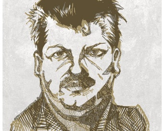 John Wayne Gacy Illustration Art Print