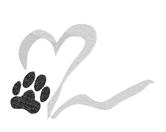 Animal love (heart paw)