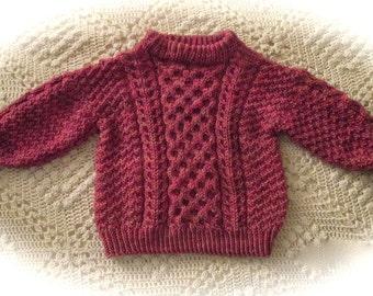 PDF EMERALD ISLE Child's Pullover Pattern