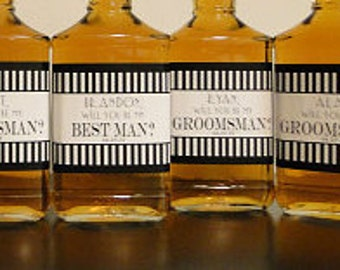 Wedding Groomsman Liquor Labels and Beer Labels - Will you Be My Bridal Party and Best Man Favors