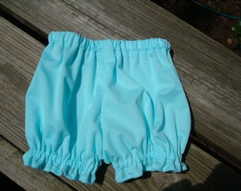 Waterproof Pull Up Shorts for Cloth Diapered Baby in Solid Colors - Sea Spray 701