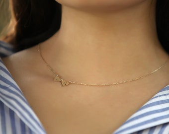 letter a gold gold sideways initial necklace alphabet necklace 6068