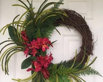 Incroyable Tropical Wreath, Hawiian Wreath, Front Door Wreath