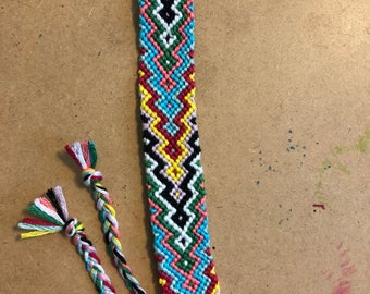 Zig Zag Chevron Friendship Bracelet