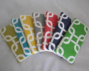 Sunglass eyeglass fabric case seven color choices lined and padded RTS