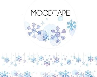 28mm Washi tape Masking tape ---- snowflake basic deco tape