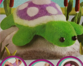 Fuzzeez No Sew Wool Turtle Craft Kit by Orb Factory for Kids 6 Years + with Instructions in 6 Languages
