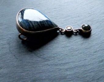 Pendant, labradorite, silver, peridot, green tourmaline, jewelry, women
