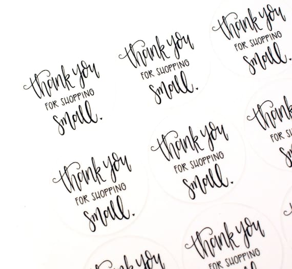 Shop exclusive thank you for shopping small stickers modern
