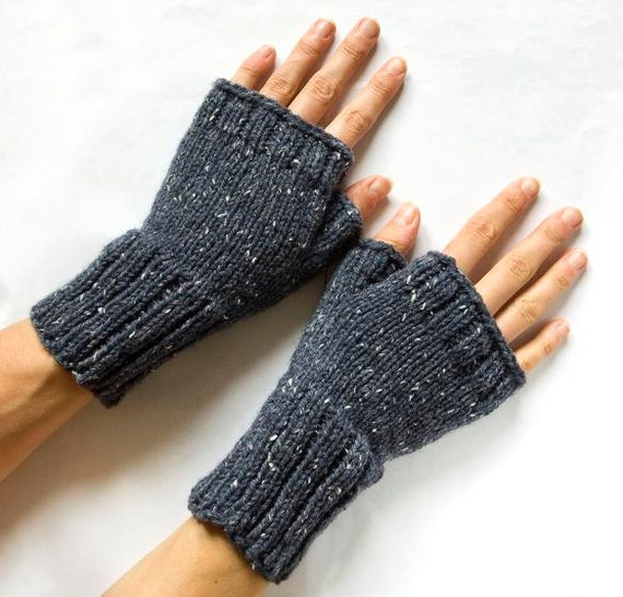 Instant Download Pdf Knitting Pattern Fingerless Mittens Knit
