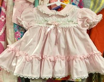 Pink Ruffle Dress 3/6 Months