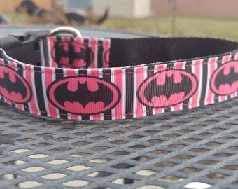 Bat girl inspired dog collar