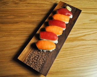 Hand Carved Sushi Tray Plate