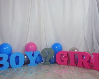 Gender Reveal Decorations | Baby Decorations | Baby Shower Letters |Boy Letters| Girl Letters | Baby Shower Decorations | Centerpieces |