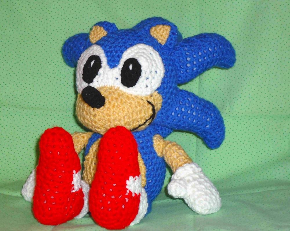 Sonic pattern crochet hedgehog pattern crochet sonic