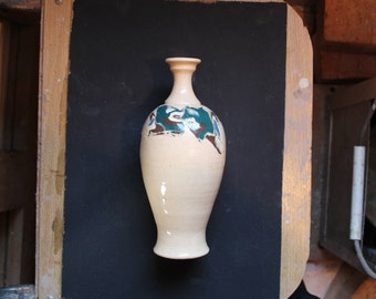 Ceramic bottle 2 Mokume gane