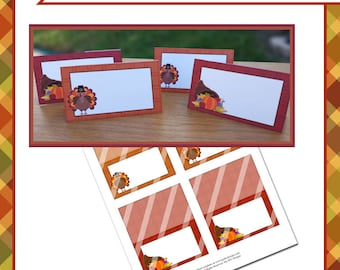Thanksgiving 3.5x4 Tent Cards - Instant Download