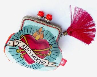 Mexican inspired handmade purse