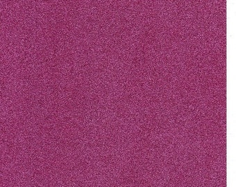 Metallic Hot Pink Glitter Card A4 soft touch low shed 1 sheet
