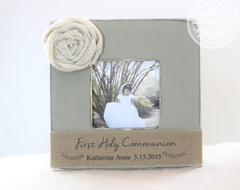 First Holy Communion Gift Personalized Picture Frame. Gift for First Holy Communion Gift