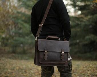 Messenger bag/ Leather Satchel/ Womens Satchel/  Leather Messenger/ Laptop Messenger/ Leather Crossbody/ Crossbody Bag/ Messenger Bag
