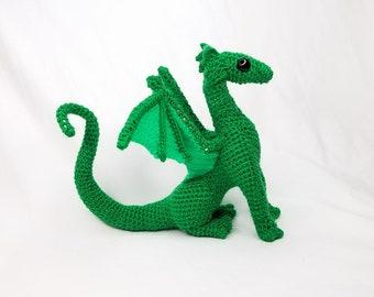 Little Baby Juvenile Green Crochet Dragon Stuffed Toy