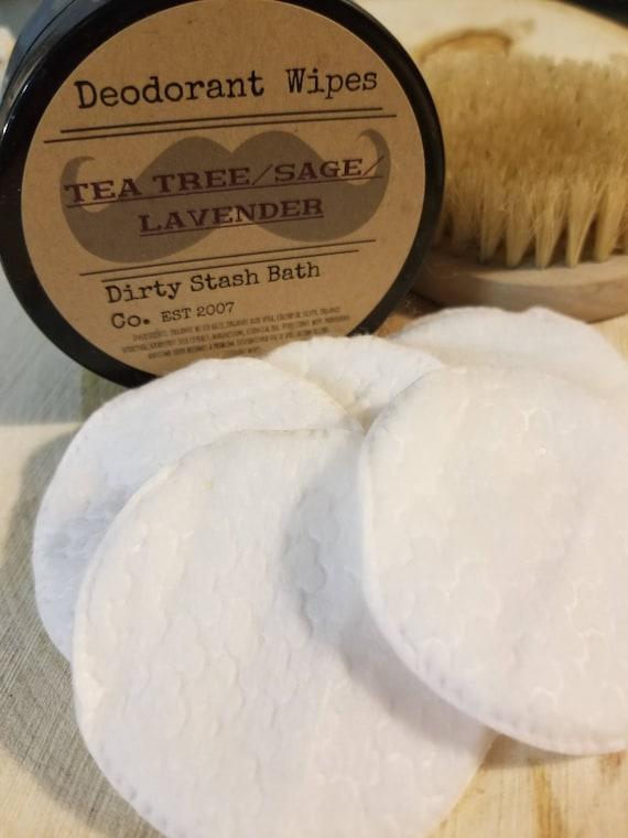 Organic Deodorant Wipes-Refresh On The Go- Tea Tree Lavender Sage