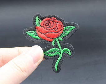 Rose Iron On Patch Embroidered patch 5.6x5cm - PH405