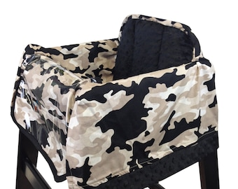 Gray Camo High Chair Cover Restaurant
