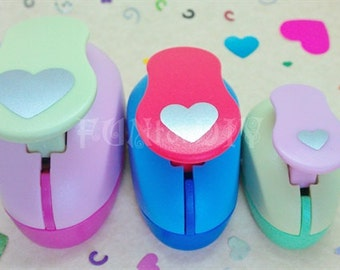 9~23mm, a set of 3 paper punchers -- hearts