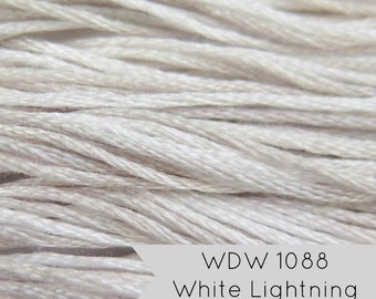 Weeks Dye Works Hand Over Dyed Embroidery Floss - White Lightning (1088)