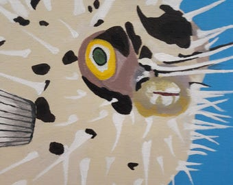 Puffer Fish. Original Artwork
