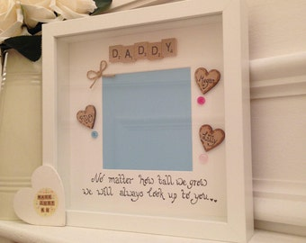 Personalised Daddy Frame, Scrabble Art Frame, Frame For Daddy, Daddy Gift, Gift For Daddy, New Dad Gift, Birthday Gift For Daddy,Fathers day