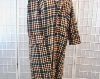 1930/40s Beacon Plaid Blanket Robe   Men's Size Medium/Large