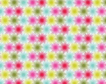 Blend Fabrics • Hip Holiday • Star Bursts White • Cotton Fabric 0.54yd (0.5m) 001771