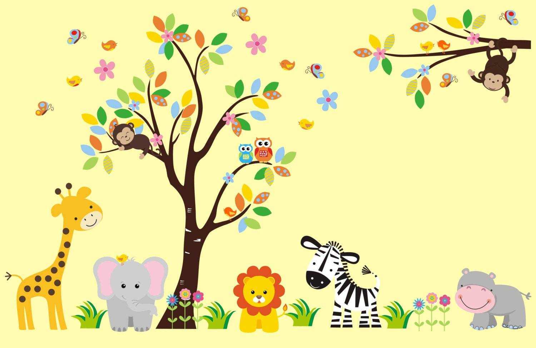 Nursery Wall Decals Girls Nursery Animal Decals Girls