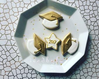 Graduation Sugar Cookies| 16 graduation caps