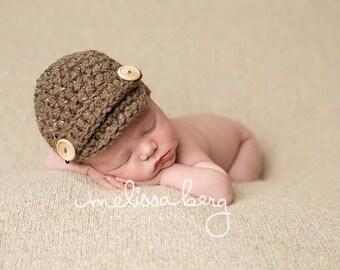 Barley Newsboy Hat Newborn Baby Photography Photo Prop