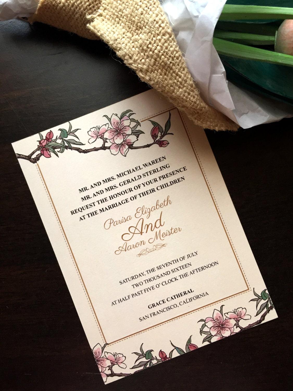 DIY Printable Chinese Wedding/ Korean/ Japan Invitation /